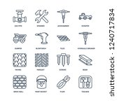 toolbox  plier  paint bucket ... | Shutterstock .eps vector #1240717834