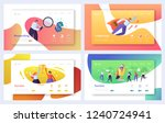 business landing page template... | Shutterstock .eps vector #1240724941