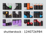 set of vector black templates... | Shutterstock .eps vector #1240726984