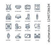 speakers  graphic tablet ... | Shutterstock .eps vector #1240728634