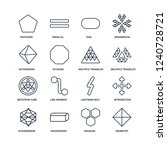 geometry  hexagon  hexahedron ... | Shutterstock .eps vector #1240728721