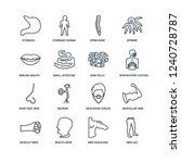 men leg  shoulder  mouth open ... | Shutterstock .eps vector #1240728787