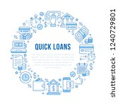 finance  money loan circle... | Shutterstock .eps vector #1240729801