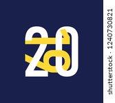 numbers 2019  in mind breaking... | Shutterstock .eps vector #1240730821