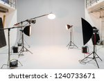 empty studio with photography... | Shutterstock . vector #1240733671
