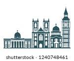 london street skyline... | Shutterstock .eps vector #1240748461