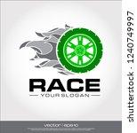 race wheel icon  race logo... | Shutterstock .eps vector #1240749997