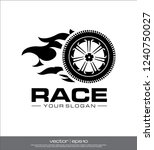 race wheel icon  race logo... | Shutterstock .eps vector #1240750027