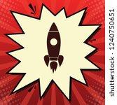 rocket sign illustration.... | Shutterstock .eps vector #1240750651