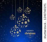 merry christmas and happy new... | Shutterstock . vector #1240760191