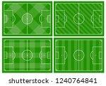 set of four football fields... | Shutterstock .eps vector #1240764841