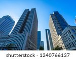 low angle view of skyscrapers... | Shutterstock . vector #1240766137