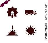 sunrise icon. sunrise vector... | Shutterstock .eps vector #1240766434