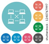 content delivery network flat... | Shutterstock .eps vector #1240767997