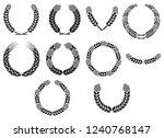 wreath of wheat ears vector... | Shutterstock .eps vector #1240768147