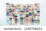 television streaming video... | Shutterstock . vector #1240768651