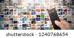 television streaming video... | Shutterstock . vector #1240768654