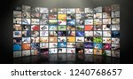 television streaming video... | Shutterstock . vector #1240768657