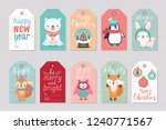christmas gift tags set with... | Shutterstock .eps vector #1240771567