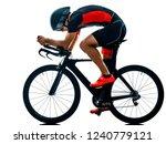 triathlete triathlon cyclist... | Shutterstock . vector #1240779121