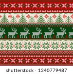 ugly sweater merry christmas... | Shutterstock . vector #1240779487