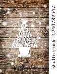 vintage decoration christmas... | Shutterstock . vector #1240782547