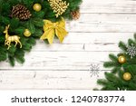 christmas decorative background ... | Shutterstock . vector #1240783774
