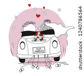 just married. newlywed couple... | Shutterstock .eps vector #1240786564