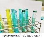 laboratory equipment chemists... | Shutterstock . vector #1240787314