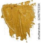 golden cosmetics swatch smear.... | Shutterstock . vector #1240792234