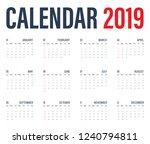 calendar 2019 minimal for your... | Shutterstock .eps vector #1240794811