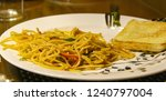 noodles with bread served in... | Shutterstock . vector #1240797004