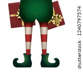 christmas elf legs. holiday... | Shutterstock .eps vector #1240797574
