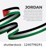 jordan flag  vector... | Shutterstock .eps vector #1240798291