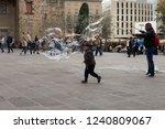 barcelona  catalonia   spain  ... | Shutterstock . vector #1240809067