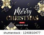 christmas sale. xmas banner... | Shutterstock .eps vector #1240810477