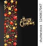 christmas party or dinner... | Shutterstock . vector #1240817047