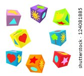 set of 3d colorful childish...   Shutterstock .eps vector #124081885
