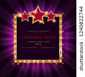invitation merry christmas... | Shutterstock . vector #1240822744