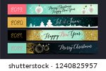 christmas. new year 2019. happy ... | Shutterstock .eps vector #1240825957