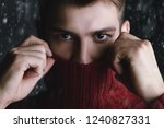 portrait of a handsome young... | Shutterstock . vector #1240827331