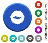 hand in sticker round color... | Shutterstock .eps vector #1240829791