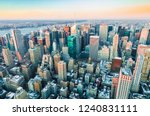 sunset on upper manhattan... | Shutterstock . vector #1240831111