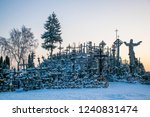 the hill of crosses is the most ... | Shutterstock . vector #1240831474