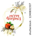 vector card with realistic fir... | Shutterstock .eps vector #1240831537