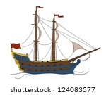 galleon | Shutterstock .eps vector #124083577