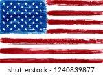 grunge american flag.vector... | Shutterstock .eps vector #1240839877