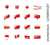 red sticker on white background.... | Shutterstock .eps vector #1240845187