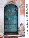 Old Shabby Entrance To One Of...