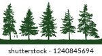 forest fir trees silhouette.... | Shutterstock .eps vector #1240845694